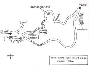 denah lokasi Ujian Tahap I Provinsi Papua
